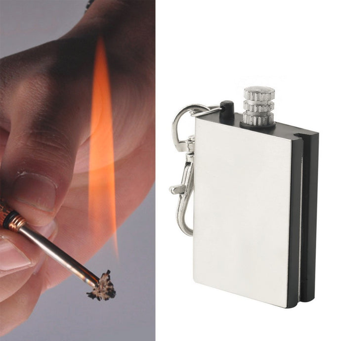 Fire Starter Flint Match Lighter Metal