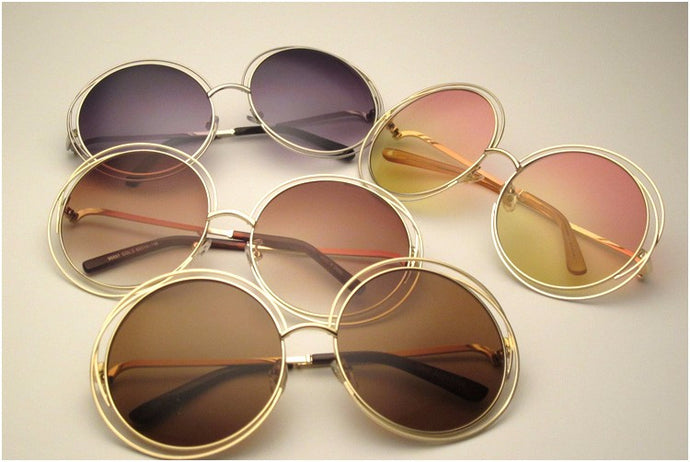 Elegant Round Wire Sunglasses