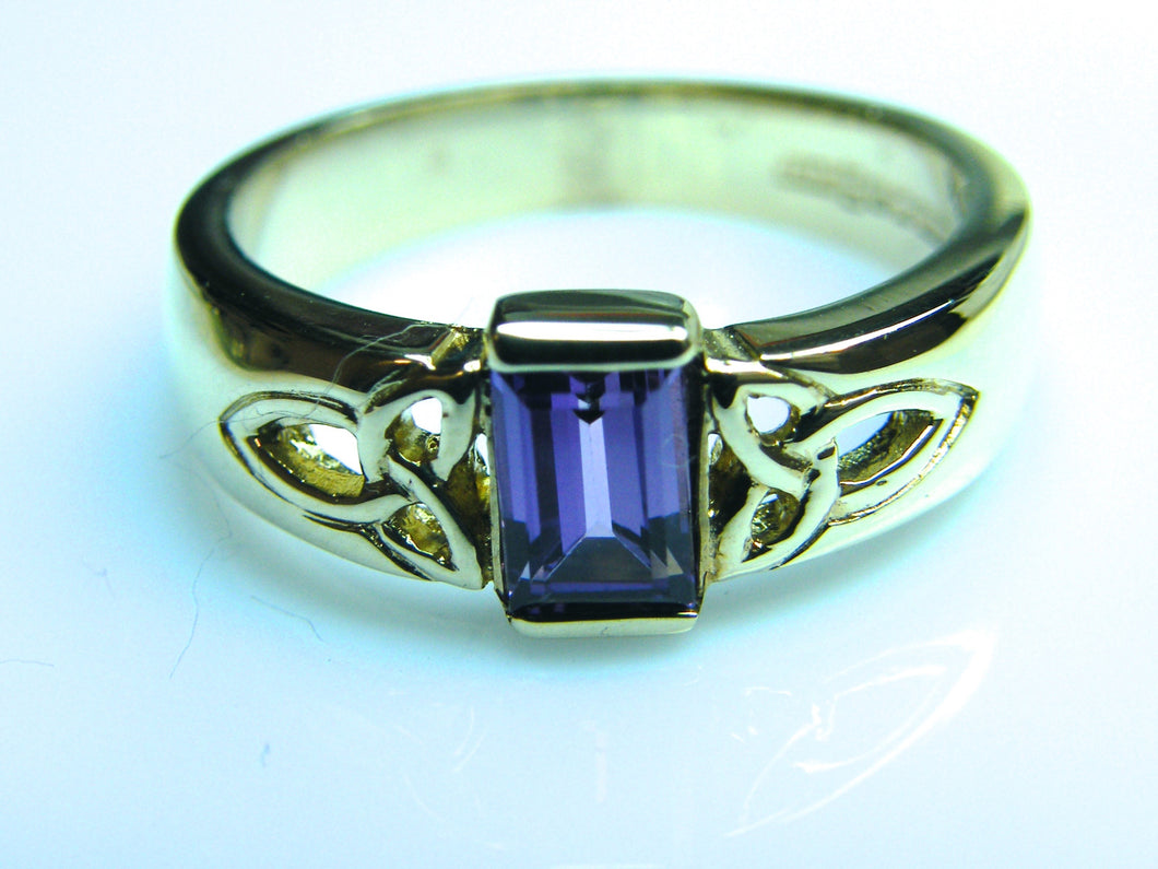 9ct Gold Amethyst Celtic Dress Ring - agiftireland