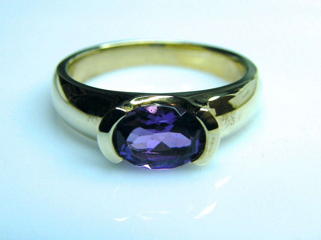 9ct Gold Amethyst Dress Ring - agiftireland