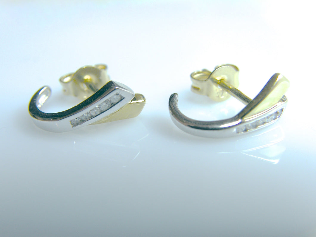 9ct Gold Diamond Earrings - agiftireland