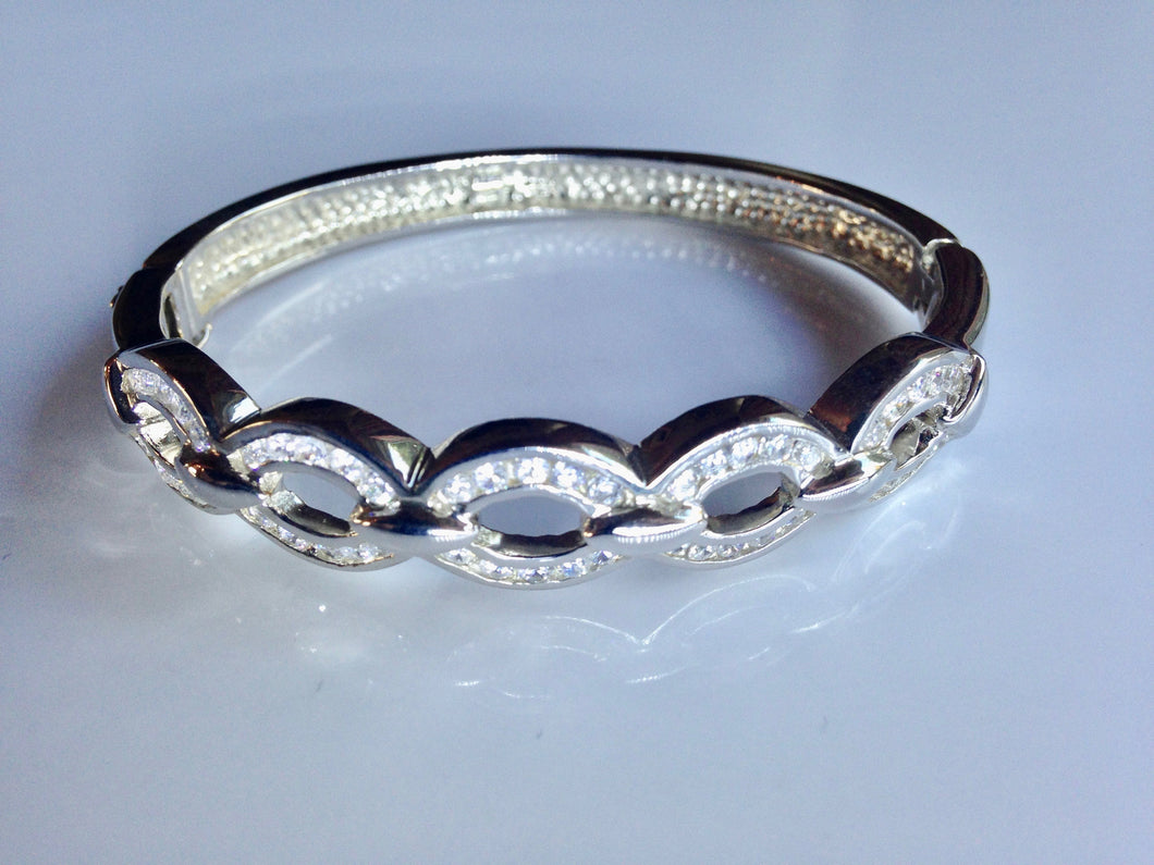 Sterling Silver C.Z. Bangle - agiftireland
