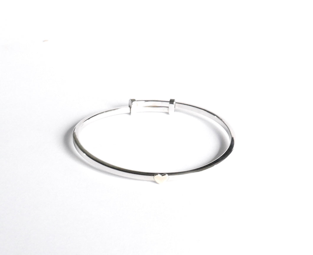 Sterling Silver Baby Bangle - agiftireland