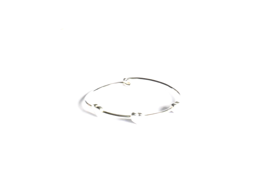 Sterling Silver Baby heart Bangle - agiftireland