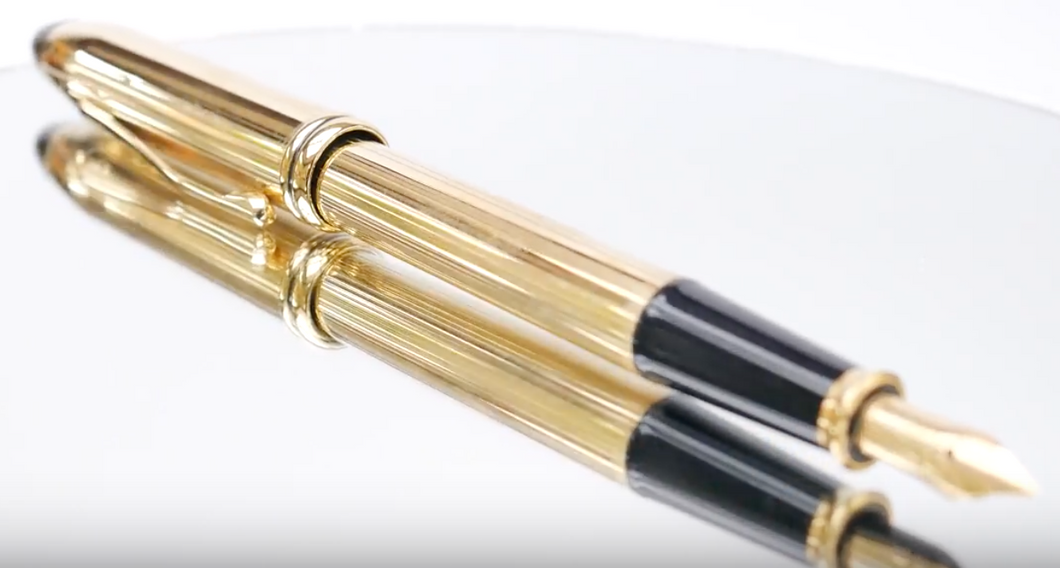 A.T.Cross Townsend 10K gold filled Fountain Pen - agiftireland