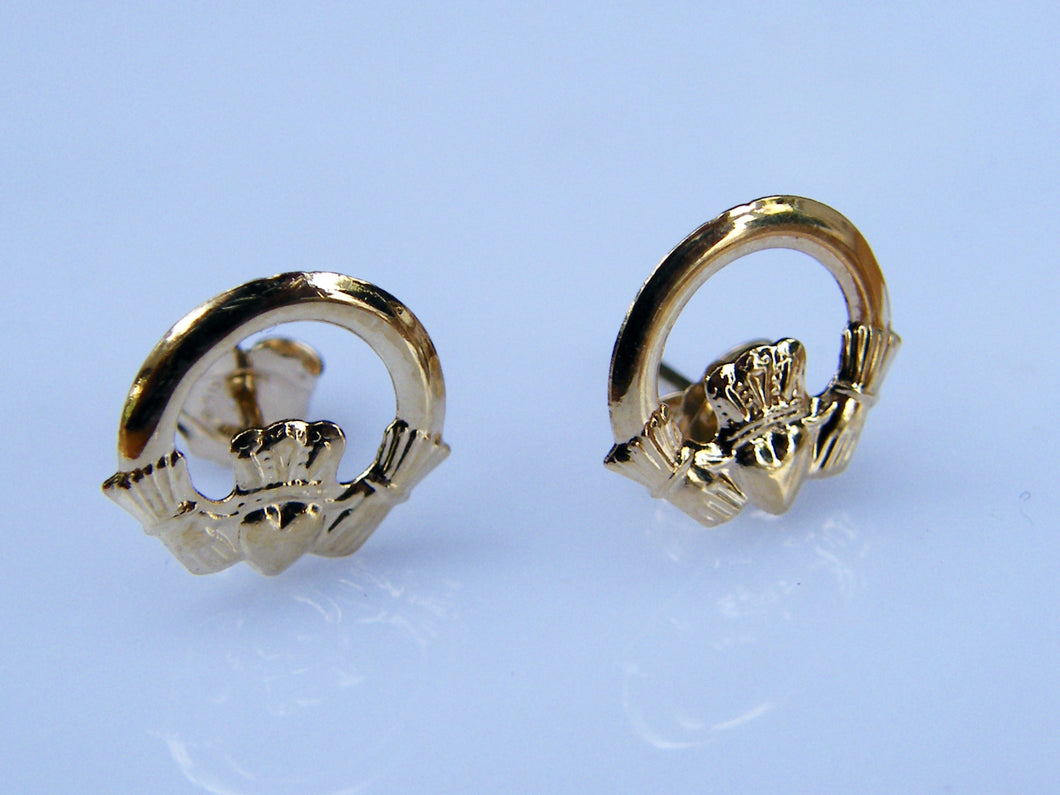 9ct Gold Claddaght Earrings - agiftireland