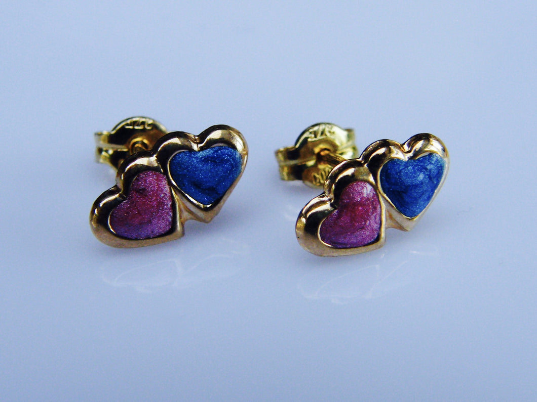 9ct Gold Heart Earrings - agiftireland