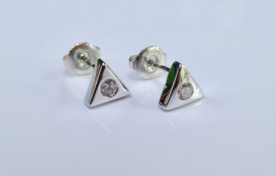 Sterling Silver stone set Earrings - agiftireland