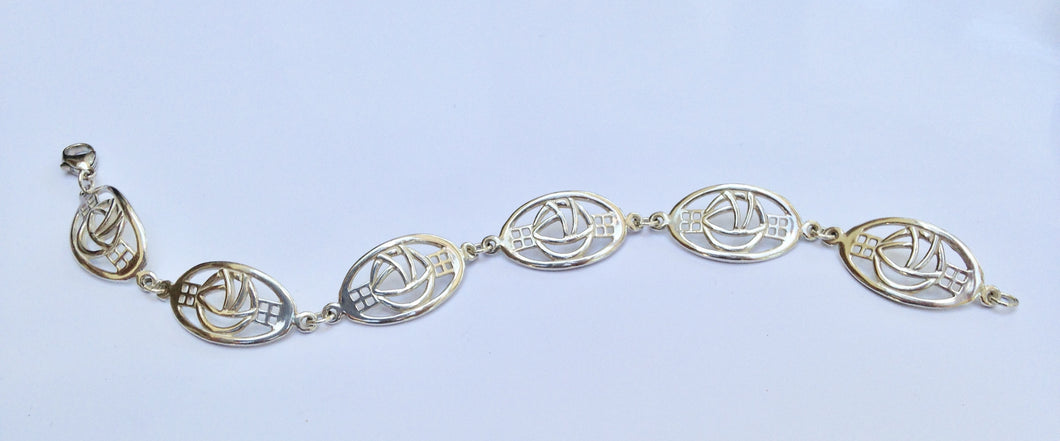 Rennie Mackintosh Sterling Silver Bracelet - agiftireland