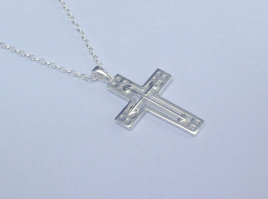 Rennie Mackintosh Sterling Silver Cross Pendant - agiftireland