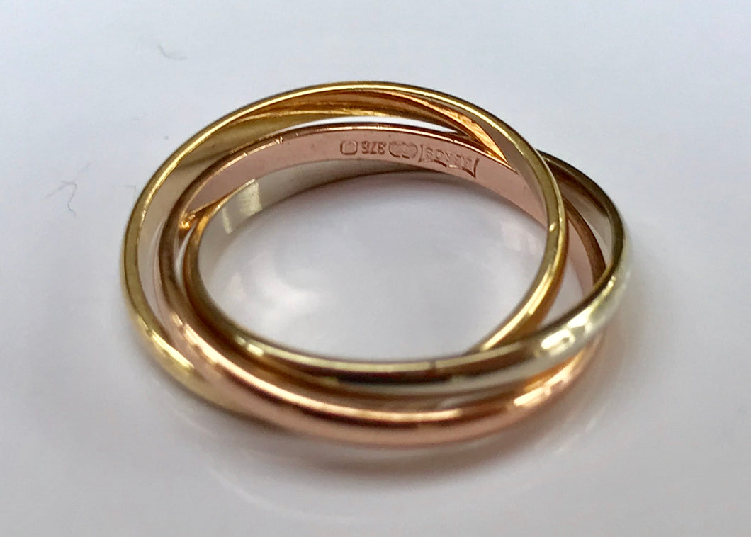 9ct Gold 3 colour (Russian style) Ring - agiftireland