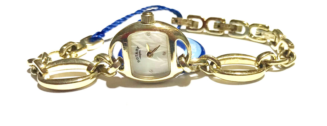 Rotary Ladies open link Gold plated bracelet quartz watch - agiftireland