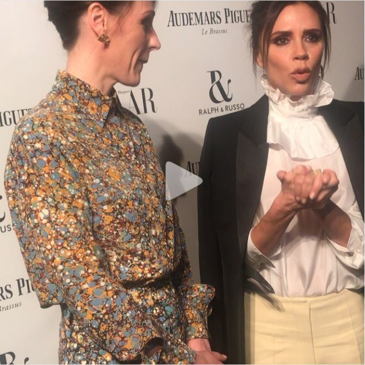 Victoria Beckham declaring her love for Dr Foster!