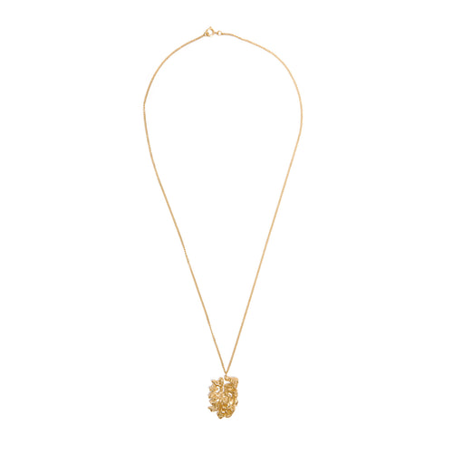 Chinese Zodiac Dog Gold Pendant Necklace