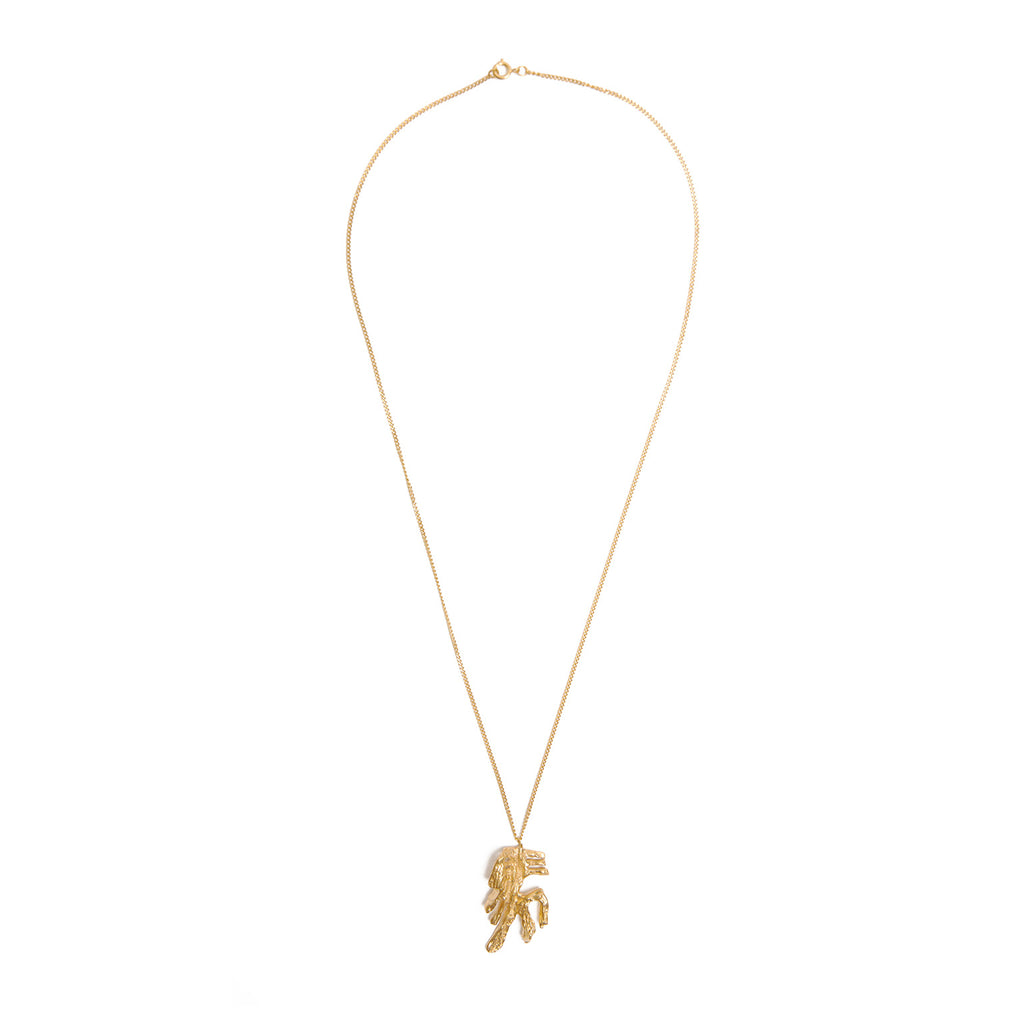 Chinese Zodiac Horse Gold Pendant Necklace