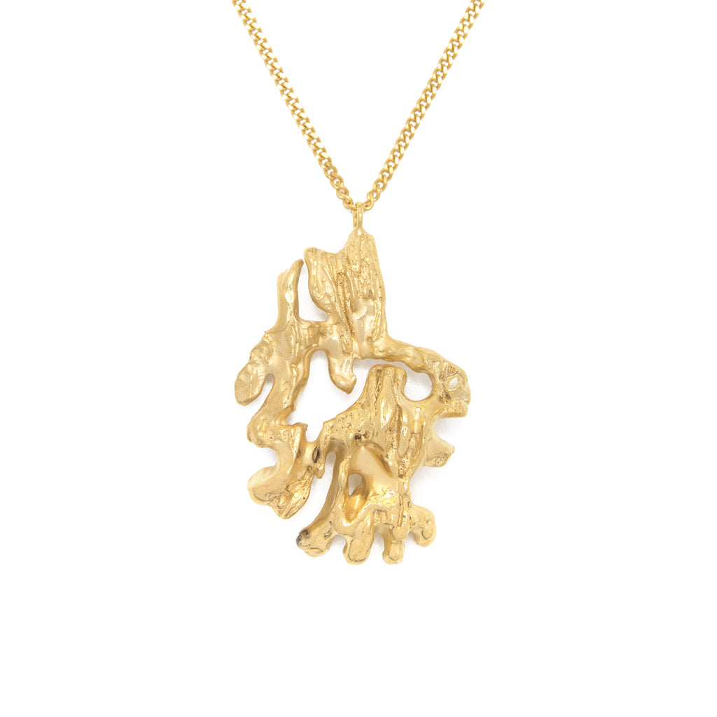 Chinese Zodiac Monkey Gold Pendant Necklace