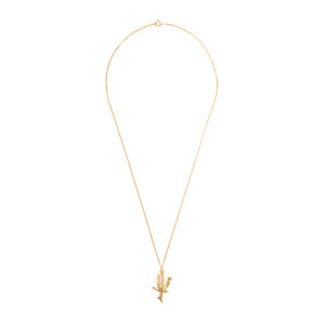 Chinese Zodiac Ox Gold Pendant Necklace