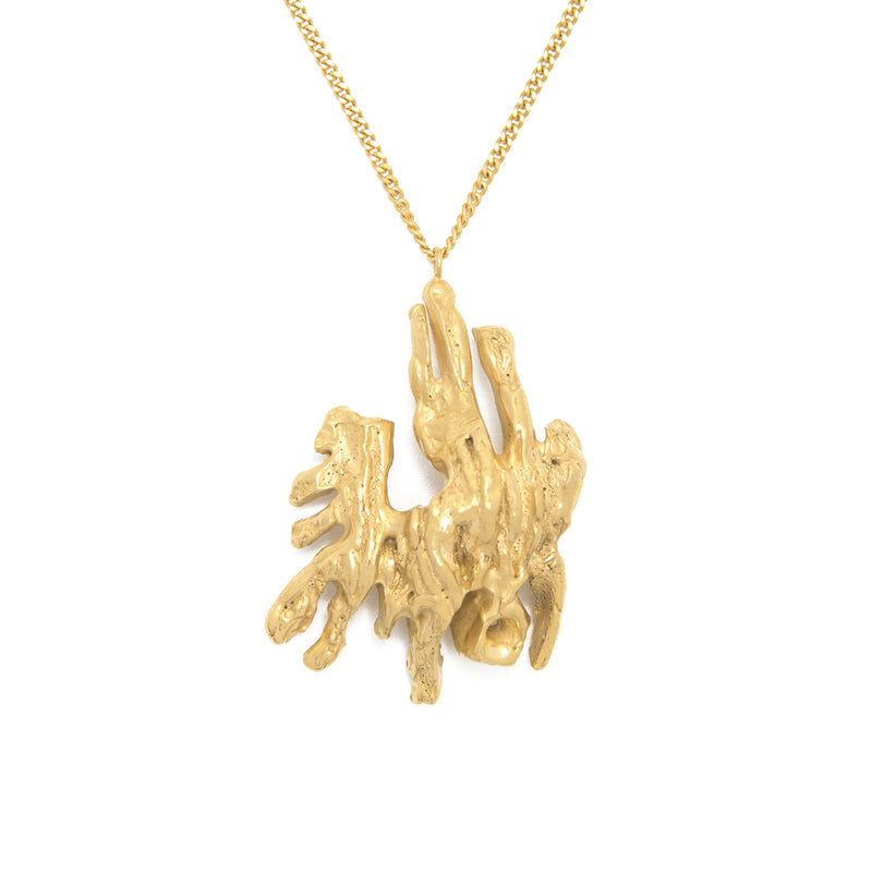 Chinese Zodiac Pig Gold Pendant Necklace