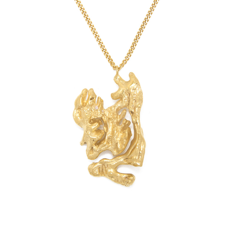 Chinese Zodiac Rat Gold Pendant Necklace