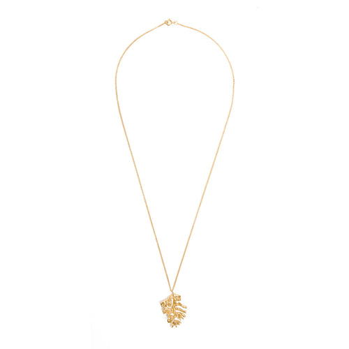 Chinese Zodiac Rooster Gold Pendant Necklace