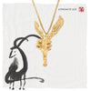 Chinese Zodiac Goat Gold Pendant Necklace