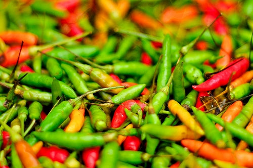Bird eye chillies