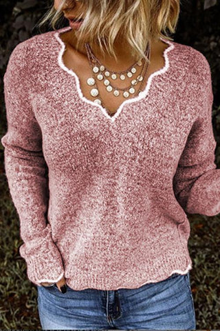 Petal Neck Sweater - girlyrose.com