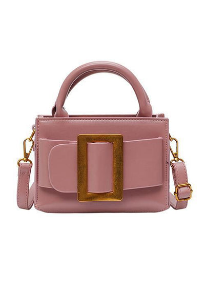Leather Bukle Crossbody Bag - girlyrose.com
