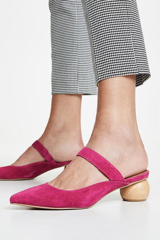 Point Toe Low Heel Mules - girlyrose.com