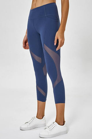 Mesh Patchwork Yoga Leggings - girlyrose.com
