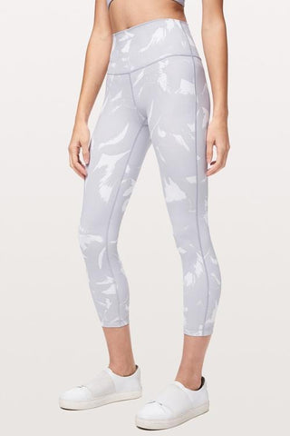 Print High Waist Yoga Leggings - girlyrose.com