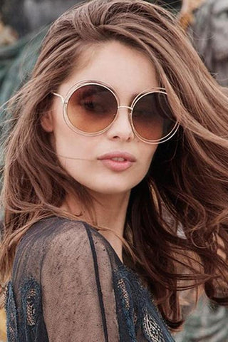 Round Sunglasses - girlyrose.com