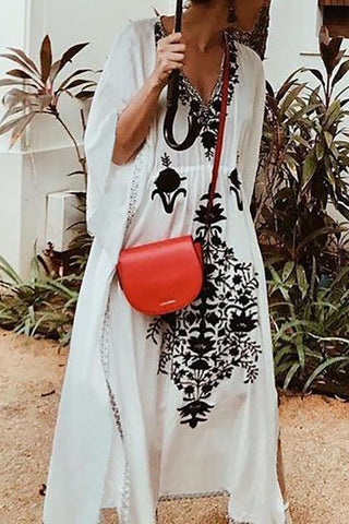 Embroidery Loose Cover Dress - girlyrose.com