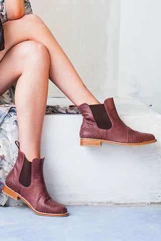Classical Slip On Chelsea Booties - girlyrose.com