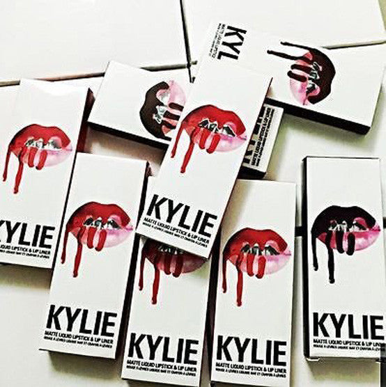 New in Box Kylie Jenner Liquid Matte Lipstick with Lip Liner ALL COLORS - girlyrose.com