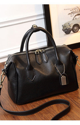 Leather Shoulder Bag - girlyrose.com