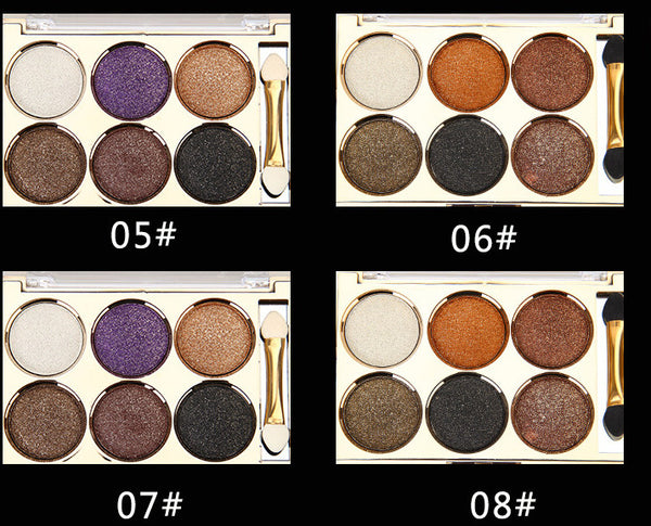 6 Colour Shimmer Eye Shadow Palette