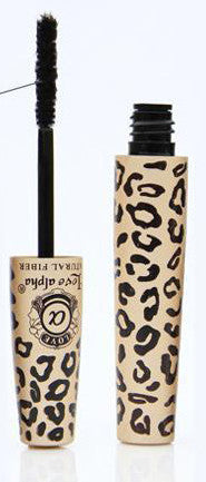 Black Mascara with Natural Fibres In Furry Leopard Display Case