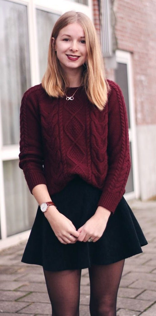 Oversized Cozy up Knit Sweater - girlyrose.com