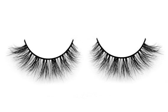 US 100% Mink 3D False Lashes, Natural Wispy Strip Arison Lashes - girlyrose.com