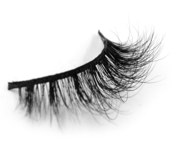 Handmade 100% Real Mink Long False Eyelash 3D Strip False Eyelashes - girlyrose.com