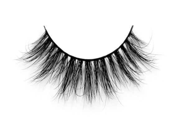 3D Long Thick Voluminous Dramatic Looking Handmade Mink False Eyelashes - girlyrose.com