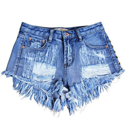 Fashion Destroyed Denim Summer Shorts