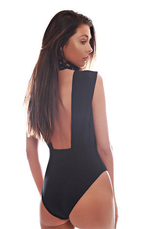 Black Sexy V Neck Jumpsuit - girlyrose.com