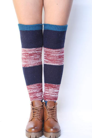 Crochet Cnee High Leg Warmer - girlyrose.com