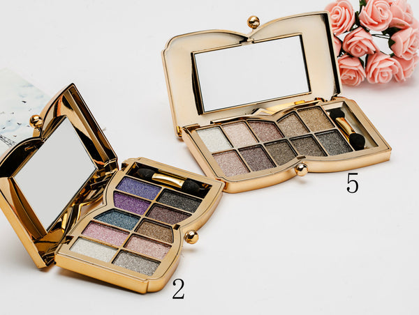 10 Color Glitter Eye Shadow Palette Set - girlyrose.com