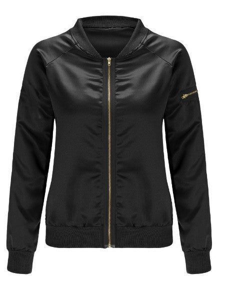 Casual Zipper Design Jacket - girlyrose.com