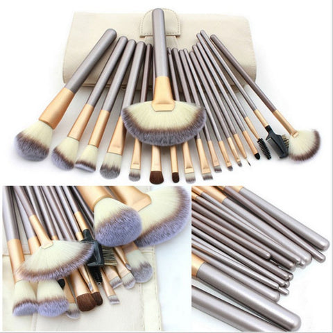18 pcs makeup brush set - girlyrose.com