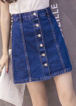 Denim & Supply Ralph Lauren Button-Front Denim Skirt - girlyrose.com