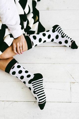 Dot Stripe Socks - girlyrose.com